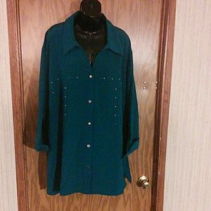 Maggie Barnes Women's Shirt size 5 XL 34/36 W